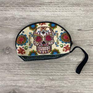 NWOT Sugar Skull Mini Pounch/Wallet/makeup bag